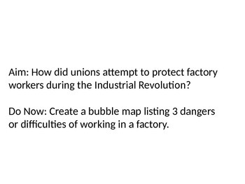Labor Unions of Industrial Revolution PowerPoint