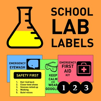 Laboratory Classroom Labels and Posters