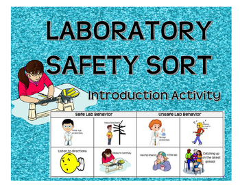 FREE: Laboratory Safety Sort; Cut and Paste- Introduction
