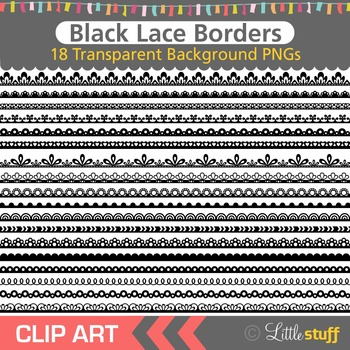 Lace Border Clipart, Black Borders Clip Art