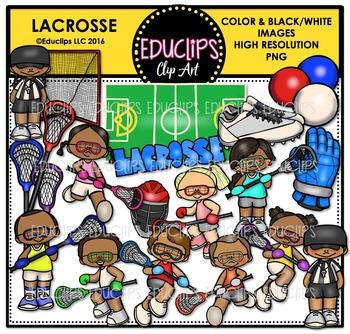 Lacrosse Clip Art Bundle
