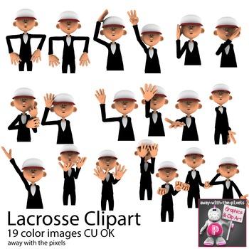Lacrosse Coach/Referee Sport Clip Art for PE
