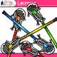 Lacrosse Sticks Clip Art {Sports Equipment for Physical Ed