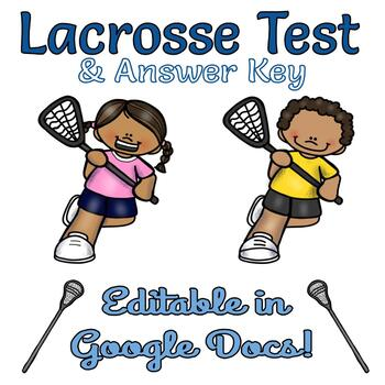 Lacrosse Test and Answer Key