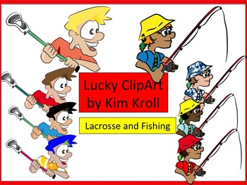 Lacrosse and Fishing Clip Art