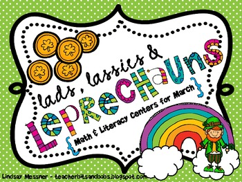 Lads, Lassies & Leprechauns {Math and Literacy Centers for March}