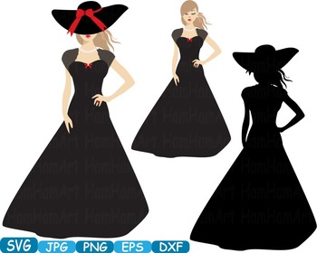 Lady dress model moda school clipart svg props party photo