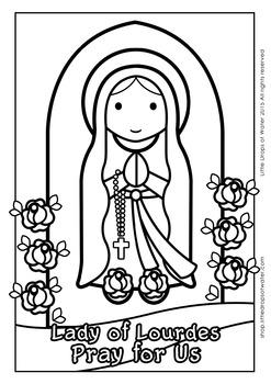 Lady of Lourdes Coloring - Catholic
