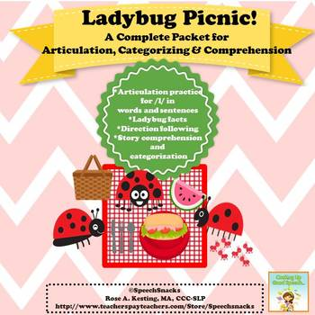 LadyBug Picnic: A Complete Packet for Articulation, Catego