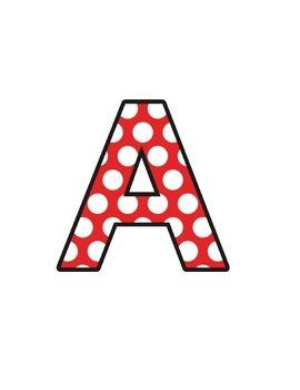 Ladybird Polka Dots (upper/lowercase, cursive, numbers, sh