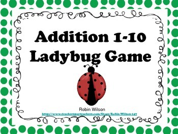Ladybug Addition Game 1-10
