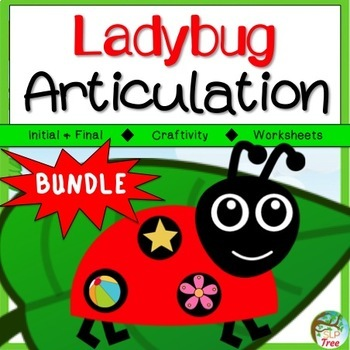 Ladybug Articulation Craftivity Bundle