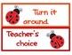 Ladybug Behavior Chart