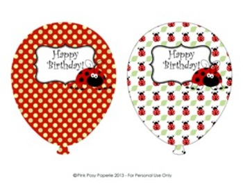 Ladybug Classroom Decor Birthday Balloons (4 different patterns)