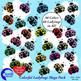 Ladybug Clipart, Multicolored Ladybug Clip Art, AMB-1058
