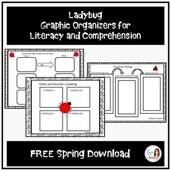 Ladybug Comprehension and Inferring Graphic Organizers FREEBIE