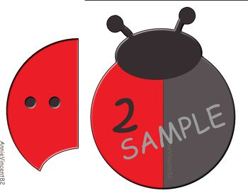 Ladybug Counting 0 to 10, numerals 0-10