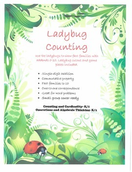 Ladybug Counting- Counting and Cardinality