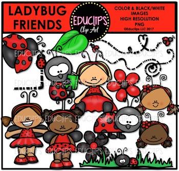 Ladybug Friends Clip Art Bundle {Educlips Clipart}