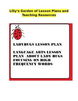 Ladybug Lesson Plan