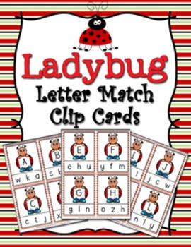 Ladybug Letter Match Clip Cards