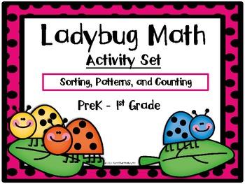 Ladybug Math Activity Set-Sorting, Patterns & Counting