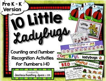 Ladybug Numbers 1-10 --- Spring Counting and Number Recogn