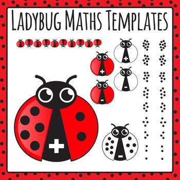 Ladybug Math Templates - Addition and Subtraction 0-9 Comm