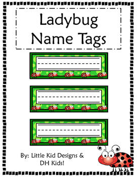 Ladybug Name Tags - Printable Name Tags