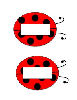 Ladybug Name Tags - printable