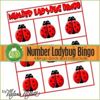 Ladybug Number Bingo Game