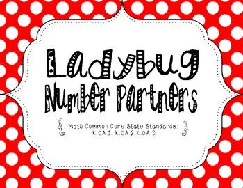 Ladybug Number Partners {Common Core Aligned}