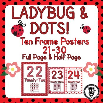 Ladybug Number Posters 21-30
