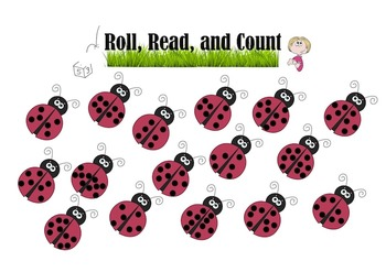 Ladybug Roll, Read, and Count for Numbers 6-10