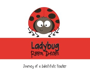 Ladybug Room Decor Pack