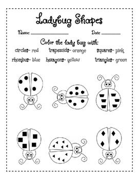 Ladybug Shapes
