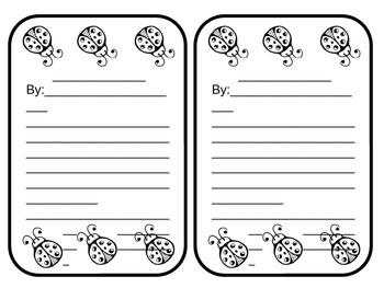 Ladybug Story or Poem - 2 per sheet