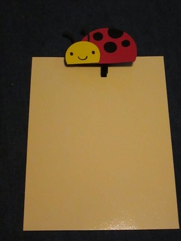Ladybug Student Display Clips