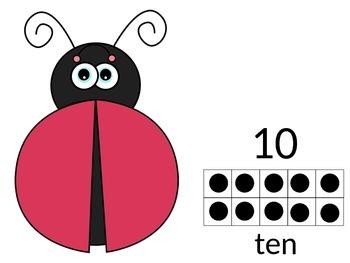 Ladybug Tens-frame Mats