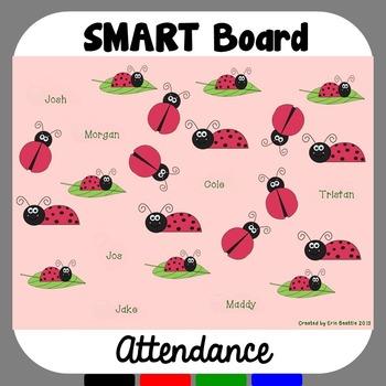 SMART Board Attendance: Ladybugs