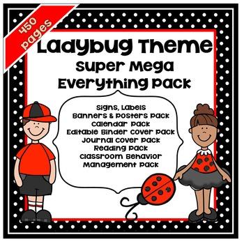 Ladybug Theme Classroom Decor * Ladybug Classroom Decor *