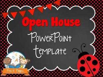 Ladybug Theme Open House ~ Back-to-School ~ PowerPoint Tem