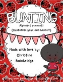 Ladybug Themed Buntings- Customize Your Own Banner!