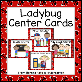 Ladybug Themed Pocket Chart  Center Cards