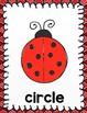 Ladybug Themed Shape Posters