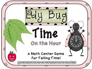 Ladybug Time On the Hour Match Game