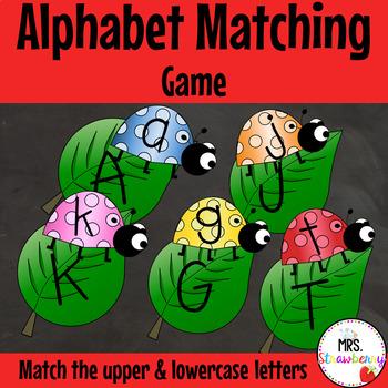 Ladybug Uppercase & Lowercase Alphabet Letter Match Up Cards