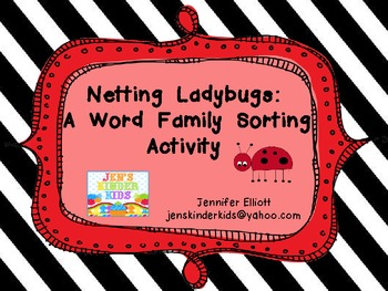 Ladybug Word Family Sort
