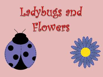 Ladybug and Flower Clip Art