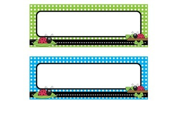 Ladybug and Polka Dot Name Tags